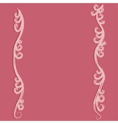 Pink flourish curves vector image