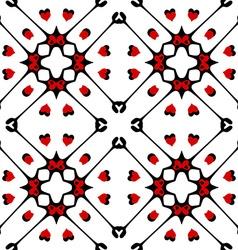 Seamless pattern with hearts Monochromatic vector image vector image