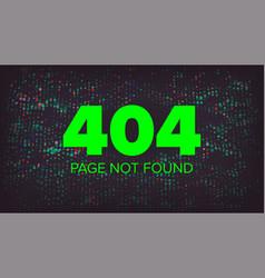 404 error error 404 page not found vector image