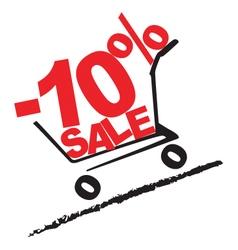 Big sale 10 percentage discount 2 vector image