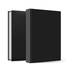 Black books vector image vector image
