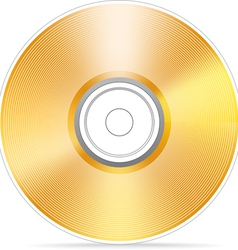 Golden compact disc vector image vector image