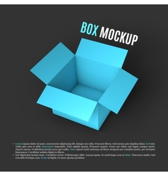 Open box mockup template vector image vector image