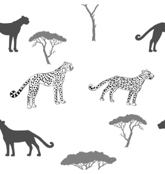 Seamless pattern with savanna animals-04 vector image vector image