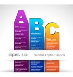ABC Bars vector image