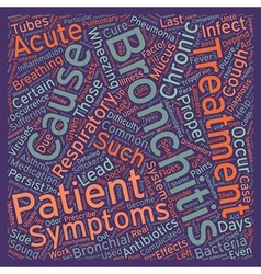 bronchitis picture text background wordcloud vector image vector image