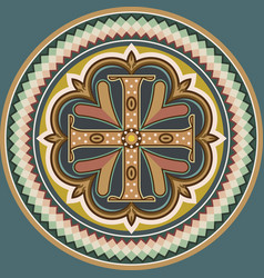 byzantine cross vector image