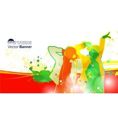 dj banner vector image vector image