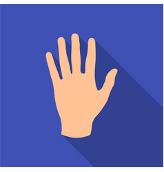 hand icon in flat style isolated on white vector image
