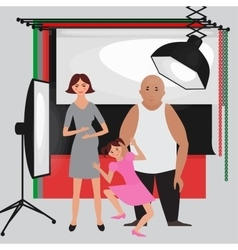 Set of photo studio equipment paper photo vector image