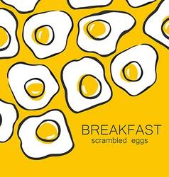 breakfast scrambled eggs vector image vector image
