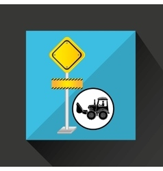 construction truck concept road sign design vector image