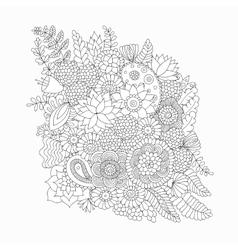 Doodle pattern black and white vector image