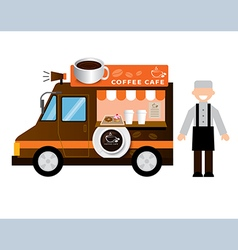 food truck coffee vector image