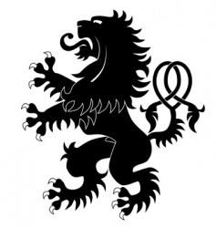 silhouette of heraldic lion 3 vector image vector image