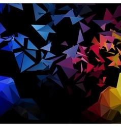 Triangles explosion background poligonal-art vector image vector image
