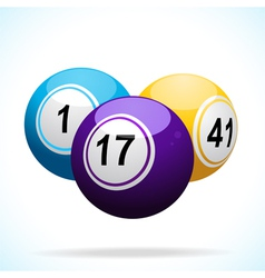 3d bingo balls floating vector