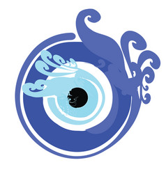 Artistic blue evil eye - greek evil eye vector