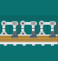 Automated robotic conveyor belt vector
