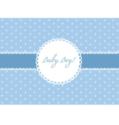 Baby Boy card design vector