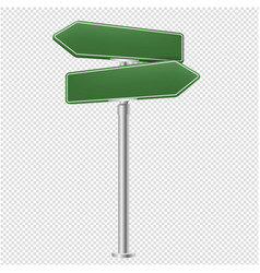 Blank street sign isolated transparent background vector