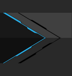 blue line arrow on grey metal design modern vector image