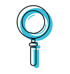 blue watercolor silhouette of magnifying glass vector image