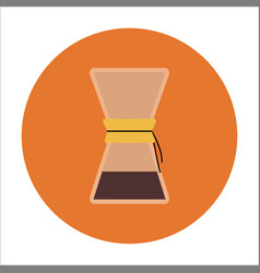 Brew coffee in chemex vector