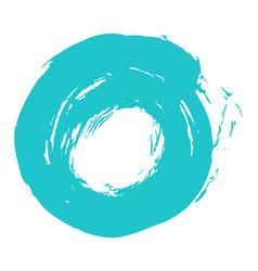 brushstroke circle form vector image