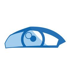 Cartoon human eye look style vector