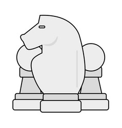 chess piece icon image vector image