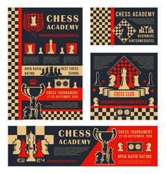 chess tournament sport school academy vector image