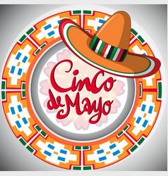 Cinco de mayo design with mexican hat vector