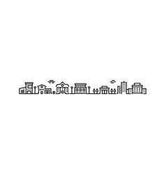 city outline landscape minimal cityscape contour vector image