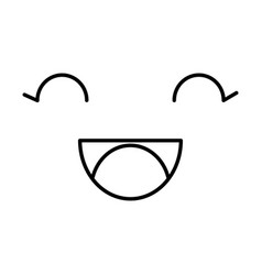 comic kawaii face emoticon vector image