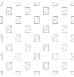 Cotton bud pattern seamless vector