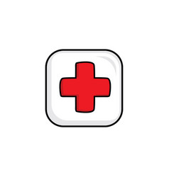 Cure help video game asset menu icon button layer vector