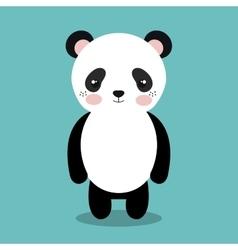 cute panda bear isolated icon design vector image