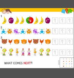 Educational pattern game for children vector