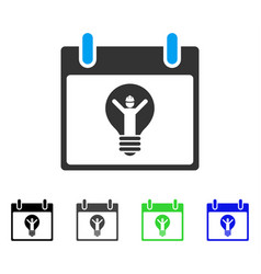 Electrician calendar day flat icon vector