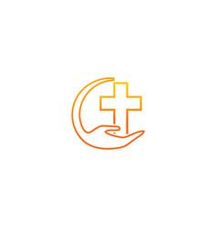 faith hands logo vector image