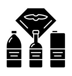 Flight drinks glyph icon vector