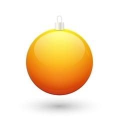 Gradient christmas yellow ball vector image