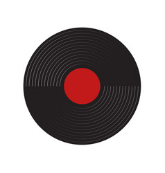 Gramophone recordings with a white background vector
