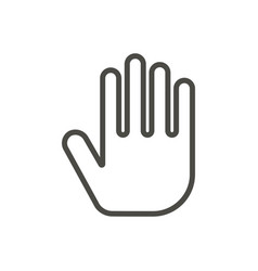 hand icon line stop symbol vector image
