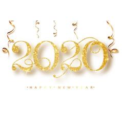 Happy new 2020 year holiday vector