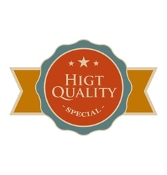 High quality round vintage banner vector