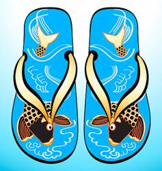 Japanese geta sandals vector image