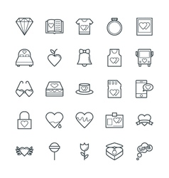 Love and romance cool icons 4 vector