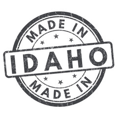 made in idaho sign or stamp vector image
